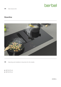 Operating and installation instructions for the models Hob extractor fan Downline