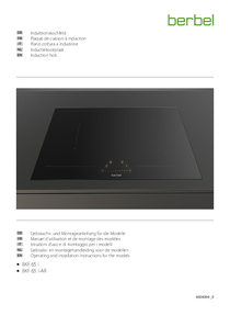 Operating and installation instructions for the models - Induction hob BKF 65 i BKF 65 i-AR