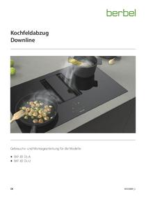 Gebrauchs- und Montageanleitung berbel Kochfeldabzug Downline