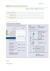 Planningformular berbel Island hood Glassline BIH GL