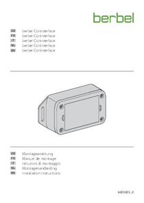 Installation instructions berbel ConInterface