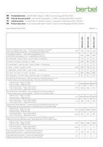 Product data sheet Firstline BEH 60|80|90 FL