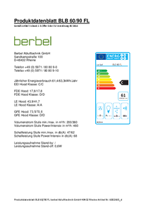 Produktdatenblatt berbel Füfterbaustein BLB 60/90 FL