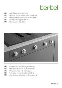 Operating and installation instructions for rotary knobs