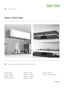 Operating and installation instructions for the models ceiling lift hood SK/SKE/SKE-I/SKE-L/SKE-S