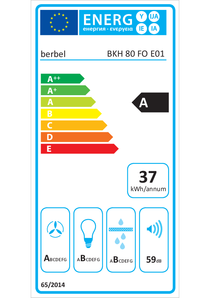 Energy-label berbel BKH 80 FO