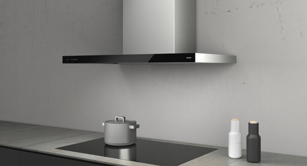 New berbel trade fair products: Glassline island and wall-mounted hood