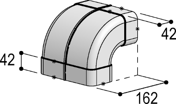System 125 - <strong>90° bend, vertical</strong>