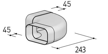 System 125 - <strong>90° bend, horizontal</strong>
