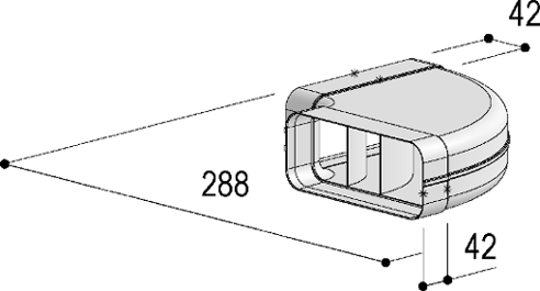System 150 - <strong>90° bend, horizontal</strong>